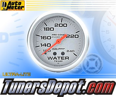 Autometer® 2-5/8&quto; ULTRA-LITE Gauge - Water Temp (Liquid Filled Mechanical) : 120-240 F