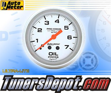 Autometer® 2-5/8&quto; ULTRA-LITE (Metric) Gauge - Oil Pressure (Mechanical) : 7 KG / CM2