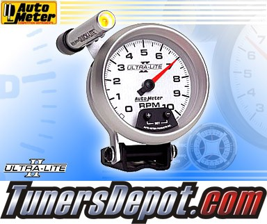 Autometer® 3-3/8&quto; ULTRA-LITE II - Tachometer (External LED Mini Quick Lite) : 10K RPM