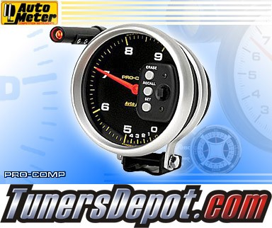 Autometer® 5&quto; PRO-COMP - Tachometer (2 Range Memory and 2 Stage Shift Lite) : 9K RPM