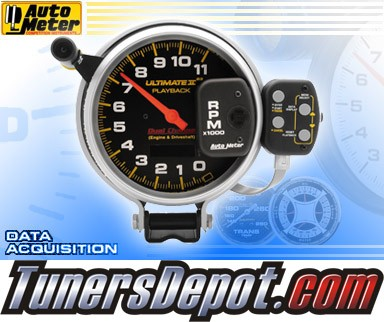 Autometer® 5&quto; ULTIMATE II - Tachometer (4 Stage Shift Lite w/ 2 Channel Playback) (Black) : 11K RPM
