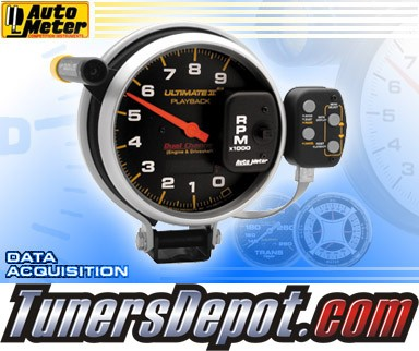 Autometer® 5&quto; ULTIMATE II - Tachometer (4 Stage Shift Lite w/ 2 Channel Playback) (Black) : 9K RPM