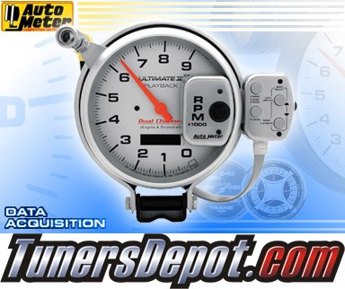 Autometer® 5&quto; ULTIMATE II - Tachometer (4 Stage Shift Lite w/ 2 Channel Playback) (Silver) : 9K RPM