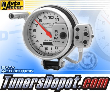 Autometer® 5&quto; ULTIMATE - Tachometer (4 Stage Shift Lite w/ Playback) (Silver) : 11K RPM