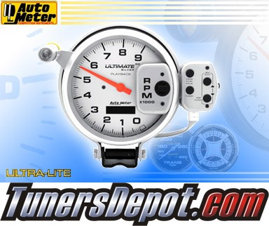 Autometer® 5&quto; ULTIMATE - Tachometer (4 Stage Shift Lite w/ Playback) (Silver) : 9K RPM
