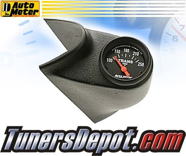 Autometer® Single A-Pillar Pod + Transmission Temp Gauge - 00-03 Chevy Silverado Duramax