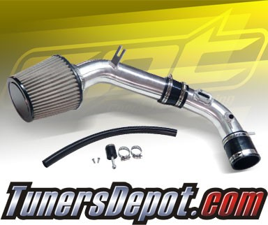 10-12 Ford Fusion 2.5L 4cyl Black Cold Air Intake Stainless Steel Air Filter