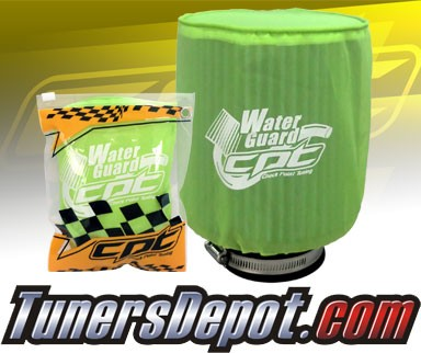 CPT Universal Water Guard Short Ram Cold Air Intake Pre-Filter Air Filter Cover (Neon Green) - Large