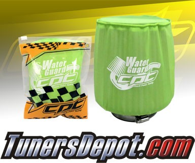 CPT Universal Water Guard Short Ram Cold Air Intake Pre-Filter Air Filter Cover (Neon Green) - Medium