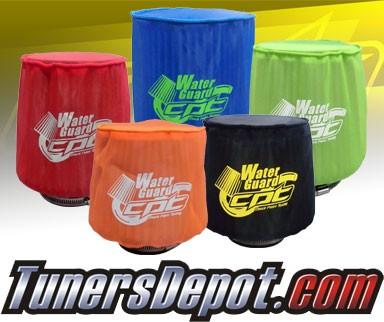 CPT Universal Water Guard Short Ram Cold Air Intake Pre-Filter Air Filter Cover (Neon Green) - Small