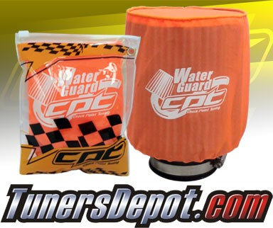 CPT Universal Water Guard Short Ram Cold Air Intake Pre-Filter Air Filter Cover (Neon Orange) - Large