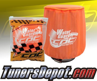 CPT Universal Water Guard Short Ram Cold Air Intake Pre-Filter Air Filter Cover (Neon Orange) - Medium