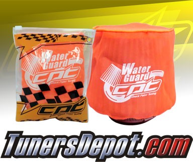 CPT Universal Water Guard Short Ram Cold Air Intake Pre-Filter Air Filter Cover (Neon Orange) - Small
