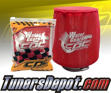 CPT Universal Water Guard Short Ram Cold Air Intake Pre-Filter Air Filter Cover (Red) - Medium