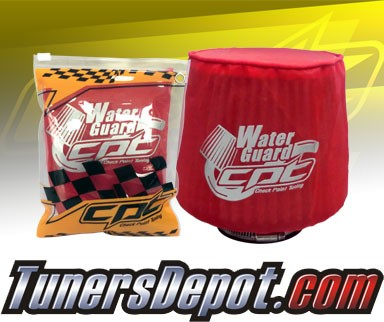 CPT Universal Water Guard Short Ram Cold Air Intake Pre-Filter Air Filter Cover (Red) - Small