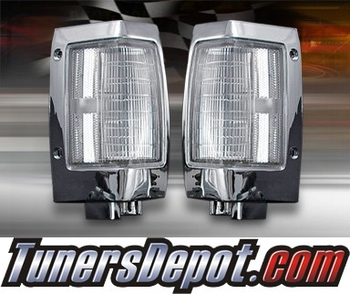 DAMAGED TD® Clear Corner Lights (Clear) - 90-97 Nissan Hardbody Pickup (DAMAGED SET,8mm chip missing from corner of left side