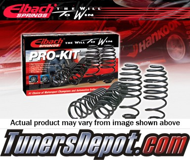 Eibach® Pro-Kit Lowering Springs - 97-02 Saab 9-3, 4 Cyl Turbo (Incl. Convertible, Coupe, Sedan, Viggen & SE)