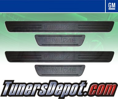 GM Official Licensed® Billet Door Sill Replacement Set - 11-12 Chevy Cruze (Black)