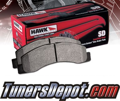 HAWK® HP SUPERDUTY Brake Pads (REAR) - 01-05 GMC Sierra 1500HD (exc 4WD)