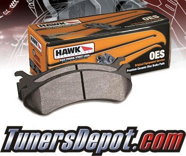 HAWK® OES Brake Pads (REAR) - 94-95 Honda Civic Hatchback Si 1600 without ABS