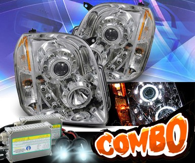 HID Xenon + KS® CCFL Halo LED Projector Headlights - 07-12 GMC Yukon (Inc. XL/Denali/Hybrid)