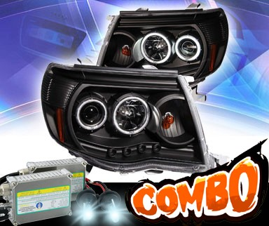 HID Xenon + KS® CCFL Halo LED Projector Headlights (Black) - 05-09 Toyota Tacoma