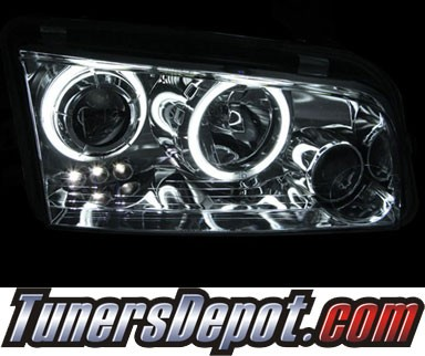 HID Xenon + KS® CCFL Halo LED Projector Headlights (Black) - 06-10 Dodge Charger