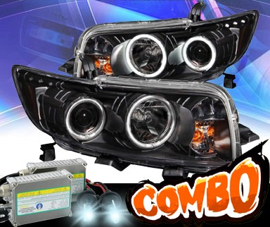 HID Xenon + KS® CCFL Halo LED Projector Headlights (Black) - 08-10 Scion xB