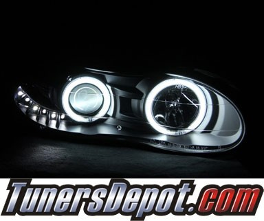 HID Xenon + KS® CCFL Halo LED Projector Headlights (Black) - 98-02 Chevy Camaro