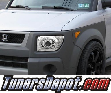 HID Xenon + KS® CCFL Halo LED Projector Headlights (Chrome) - 03-06 Honda Element