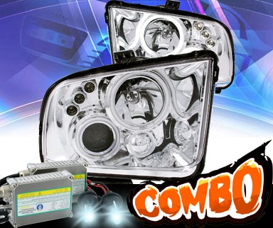 HID Xenon + KS® CCFL Halo LED Projector Headlights (Chrome) - 05 - 09 Ford Mustang