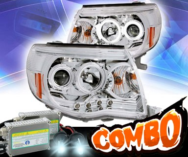 HID Xenon + KS® CCFL Halo LED Projector Headlights (Chrome) - 05-09 Toyota Tacoma