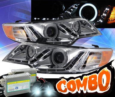HID Xenon + KS® CCFL Halo LED Projector Headlights (Chrome) - 10-12 Kia Forte