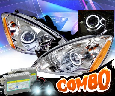 HID Xenon + KS® CCFL Halo Projector Headlights  - 04-07 Mitsubishi Lancer