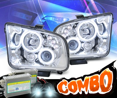 HID Xenon + KS® CCFL Halo Projector Headlights - 05-09 Ford Mustang