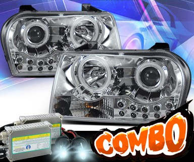 HID Xenon + KS® CCFL Halo Projector Headlights - 05-10 Chrysler 300 (Except Limited)