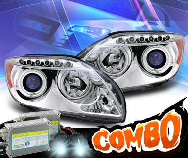 HID Xenon + KS® CCFL Halo Projector Headlights  - 05-10 Scion Tc (w/o stock projector headlights)