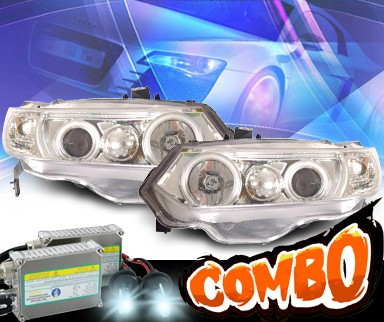 HID Xenon + KS® CCFL Halo Projector Headlights  - 06-11 Honda Civic 2dr.