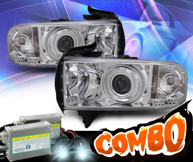 HID Xenon + KS® CCFL Halo Projector Headlights  - 94-01 Dodge Ram 2500 / 3500 Pickup