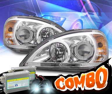 HID Xenon + KS® CCFL Halo Projector Headlights - 98-02 Mercedes-Benz ML320 W163