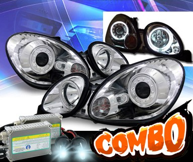 HID Xenon + KS® CCFL Halo Projector Headlights - 98-05 Lexus GS400