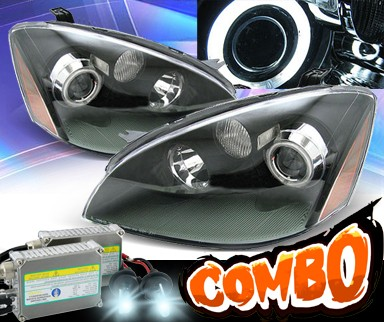 HID Xenon + KS® CCFL Halo Projector Headlights (Black) - 02-04 Nissan Altima