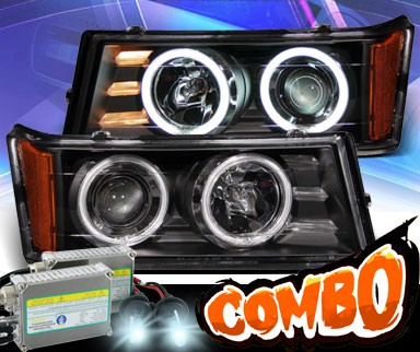 HID Xenon + KS® CCFL Halo Projector Headlights (Black) - 04-12 Chevy Colorado