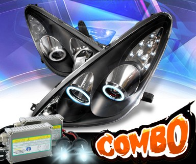 HID Xenon + KS® CCFL Halo Projector Headlights (Black) - 05-06 Lexus ES 300