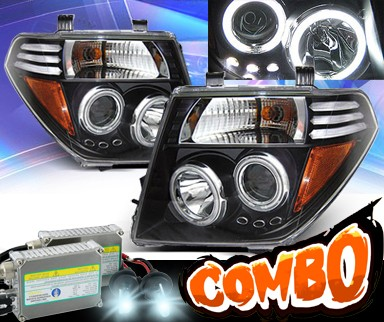 HID Xenon + KS® CCFL Halo Projector Headlights (Black) - 05-08 Nissan Frontier