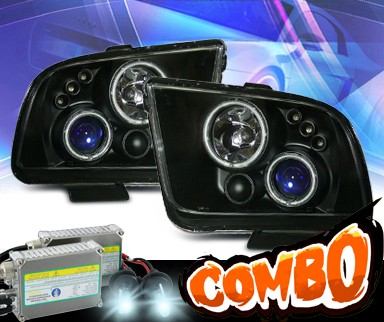 HID Xenon + KS® CCFL Halo Projector Headlights (Black) - 05-09 Ford Mustang