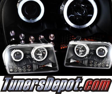 HID Xenon + KS® CCFL Halo Projector Headlights (Black) - 05-10 Chrysler 300 (Except Limited)