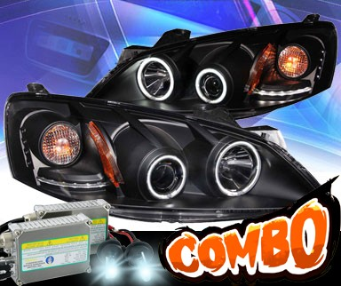HID Xenon + KS® CCFL Halo Projector Headlights (Black) - 05-10 Pontiac G6