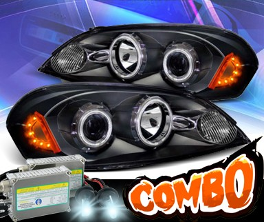 HID Xenon + KS® CCFL Halo Projector Headlights (Black) - 06-07 Chevy Monte Carlo