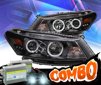 HID Xenon + KS® CCFL Halo Projector Headlights (Black) - 08-12 Honda Accord 2dr.